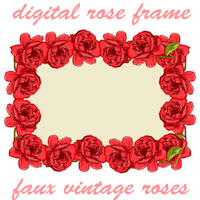 vintage rose frame png red roses