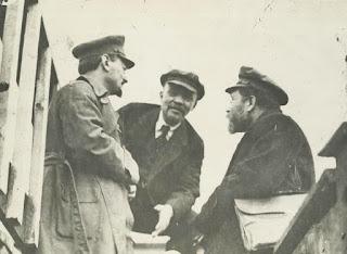 Trotsky, Lenin, Kemenev, 1919