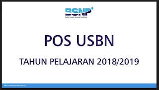 POS USBN Tahun Pelajaran 2018/2019-http://www.librarypendidikan.com