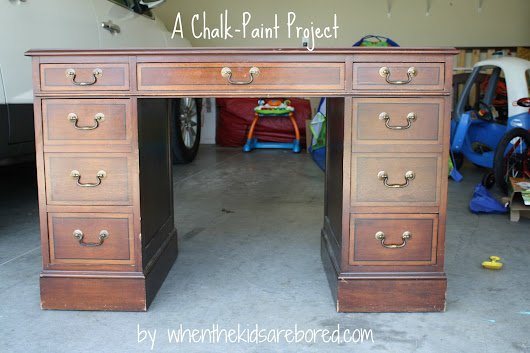 DIY Chalk-Paint and a Desk Rescue