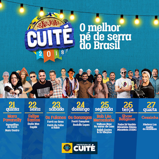"""Prefeitura de Cuité lança programação do """"São João Cuité"""" com mais de 20 atrações"""