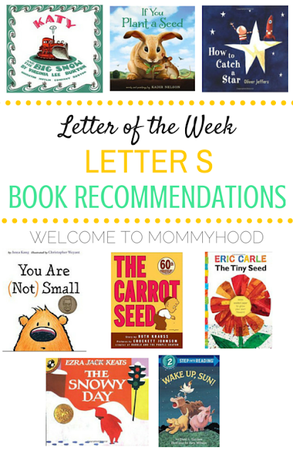 Tot Labs presents Letter of the Week: Letter Ss book recommendations by Welcome to Mommyhood, #preschoolactivities, #montessoriactivities, s#montessori, #handsonlearning, #letteroftheweek, #lotw, #freeprintables
