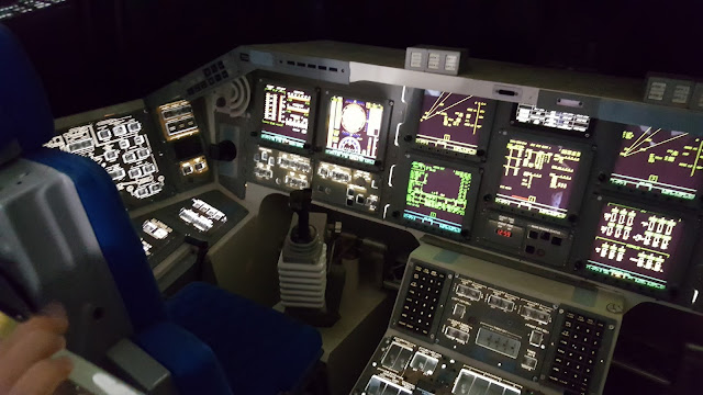 Shuttle replica cockpit Space Center Houston