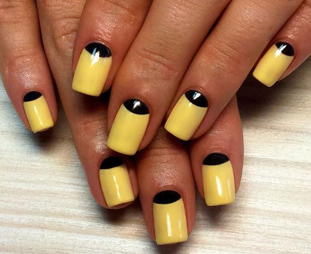 Geeks Fashion Yellow Nail Art Design