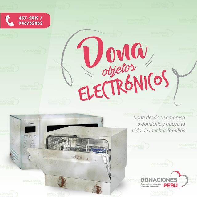Dona objetos electrónicos