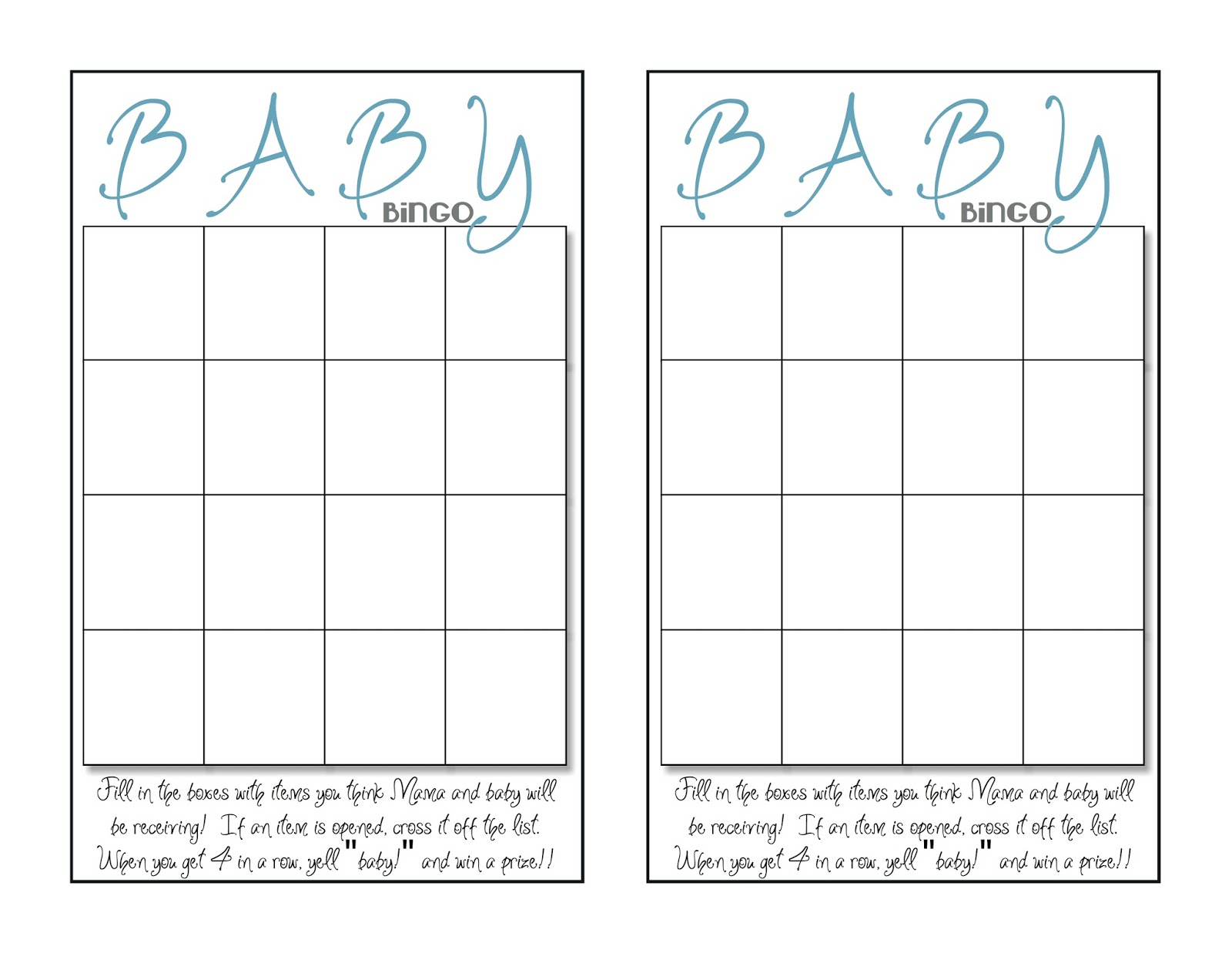 what 5 teach me baby shower bingo
