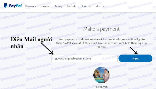 Cách chuyển tiền paypal chi tiết