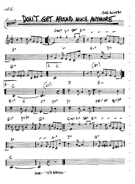 Partitura Violín Duke Ellington