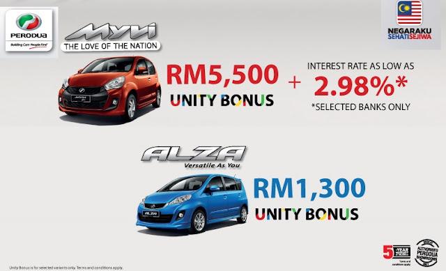 Promosi Hari Malaysia Perodua Bulan September 2017 - I Love Malaysia