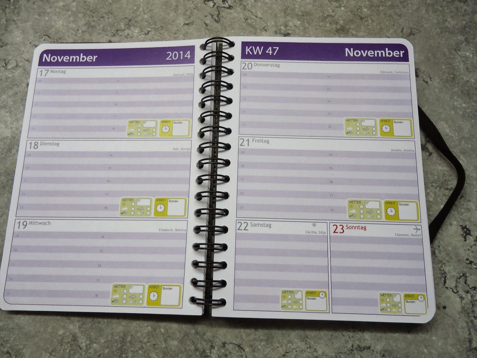 Mein Taschenkalender