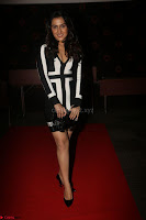 Ananya Soni in a Deep neck white blackl Dress at Shamanthakamani pre release function ~  Exclusive 081.JPG