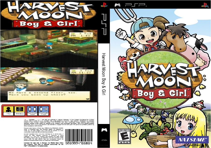 Harvest Moon Boy and Girl USA Ulus 10142 CWCheat PSP Cheats