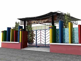 merupakan bangunan yang biasanya berada di sebuah rumah yang mempunyai tanah yang luas 33 Model Desain Gapura Minimalis Terbaru 2018