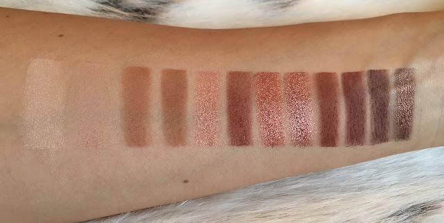 Urban Decay Heat Palette Swatches