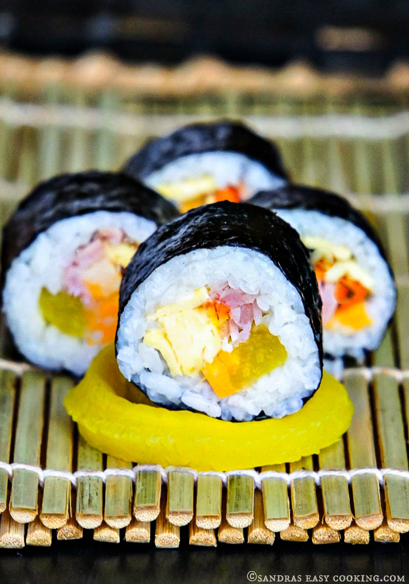 how to make korean sushi roll kimbap/gimbap
