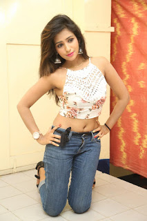 Deekshita Parvathi in a short crop top and Denim Jeans Spicy Pics Beautiful Actress Deekshita Parvathi January 2017 CelebxNext (142).JPG