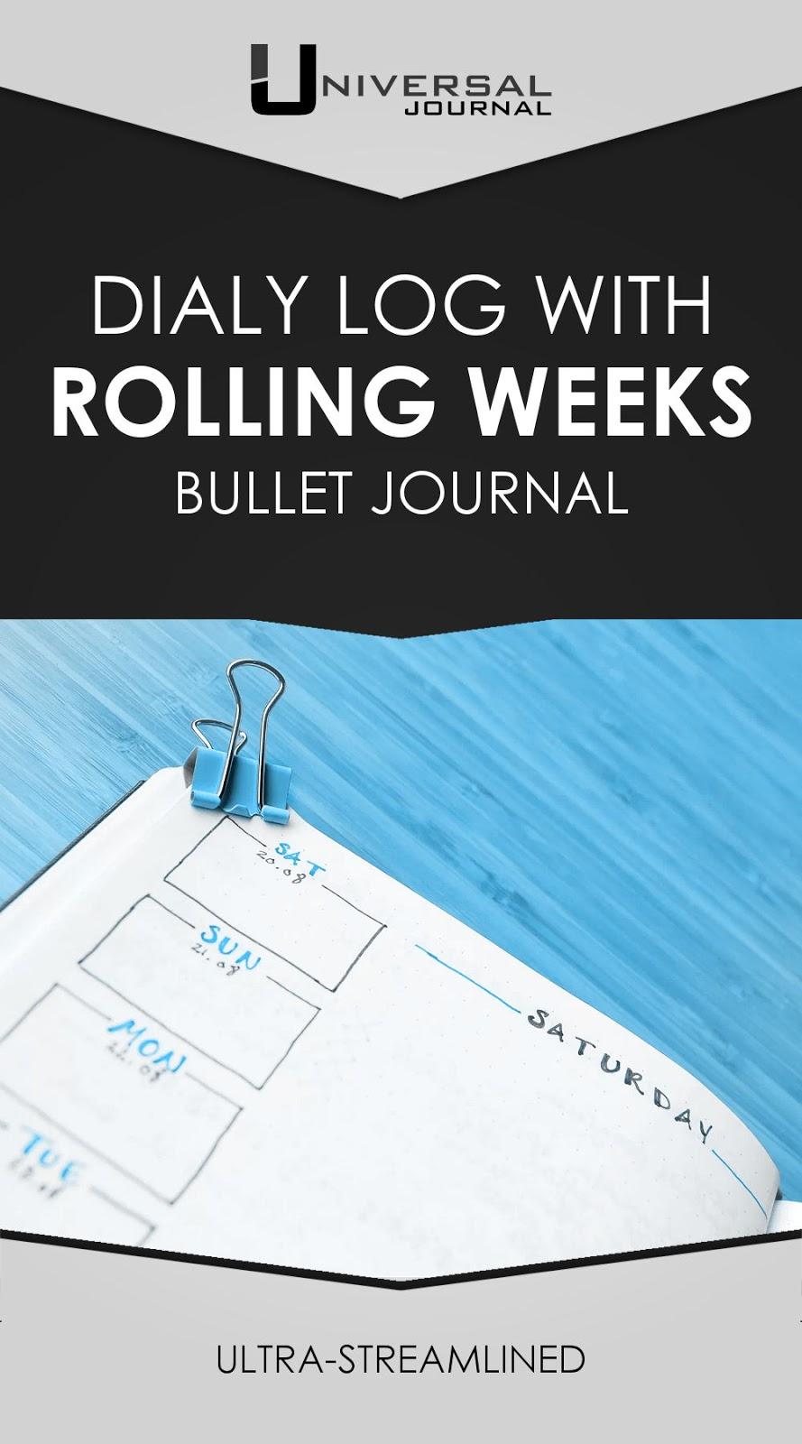 bullet journal rolling weeks daily log tip