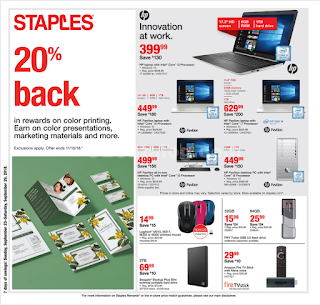 Staples Weekly Ad September 23 - 29, 2018