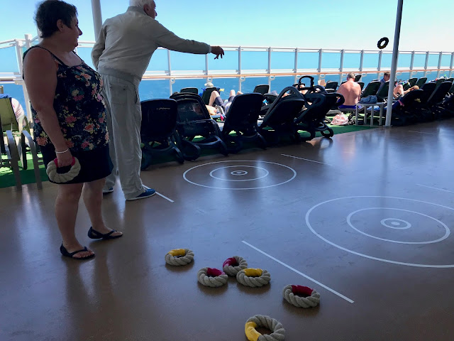Deck quoits.  Britannia, P and O cruise ship. pic: Kerstin Rodgers/msmarmitelover