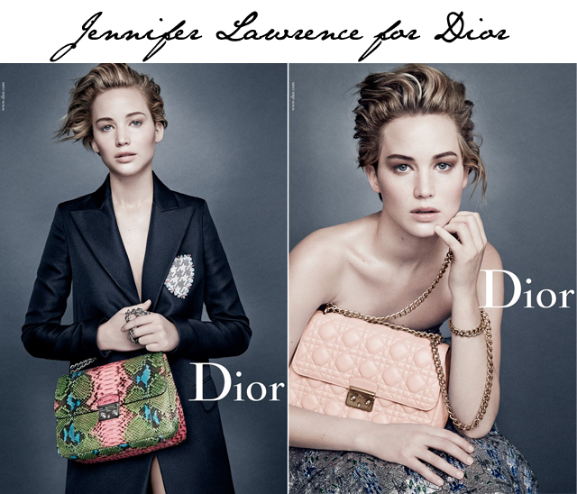 Jennifer Lawrence Dior ads
