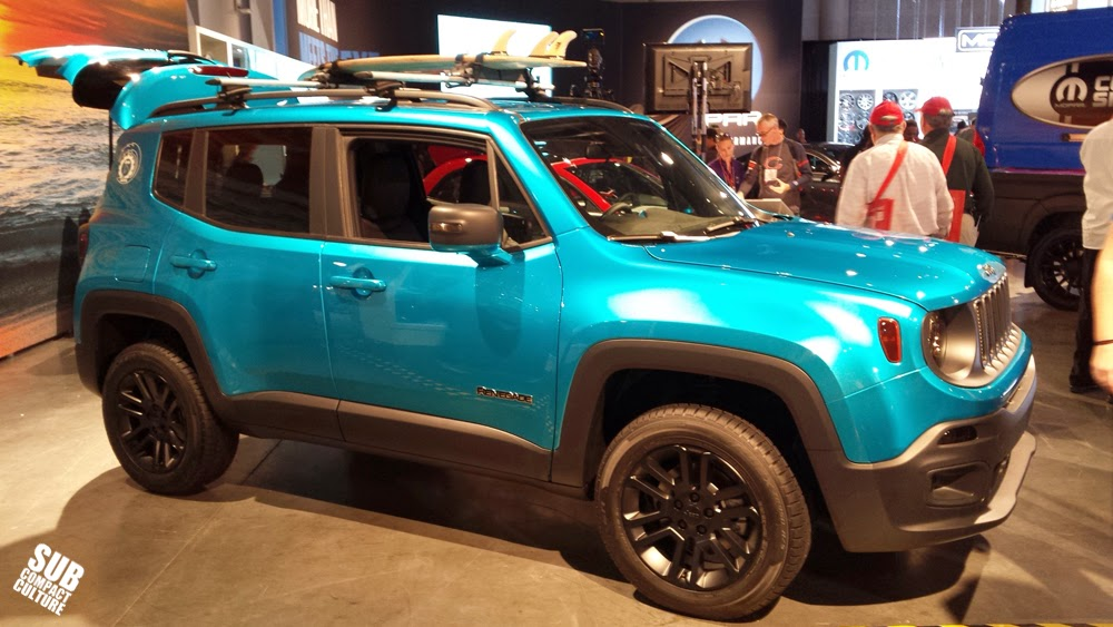 Jeep Renegade Riptide in the Mopar booth at the 2014 SEMA Show
