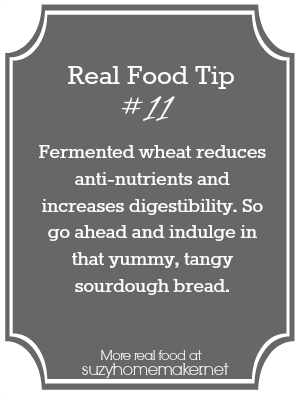 real food tip 11 - sourdough bread | suzyhomemaker.net