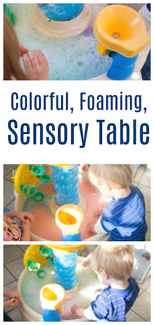 Colorful Foaming Table for Sensory Fun