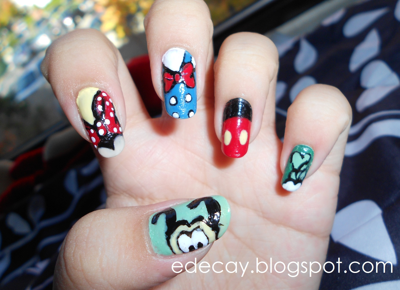 Simple Disney Nail Designs Minnie Mouse Inspired Art Cute Easy