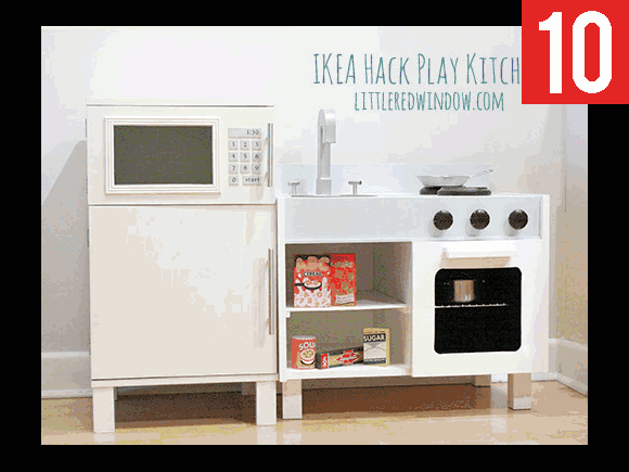 play kitchen from IKEA nightstands