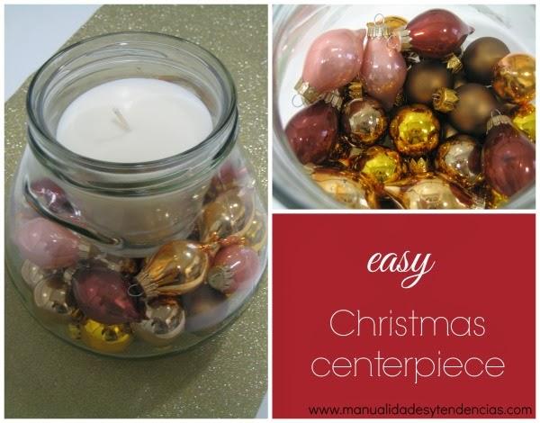 Centro de mesa navideño rápido y fácil / Christmas centerpiece / Centre de table de Noël
