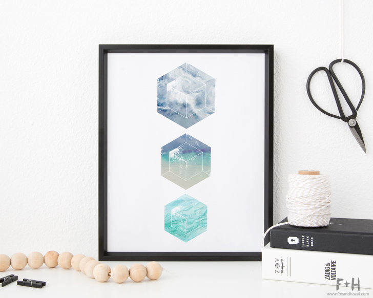 Geometric Minimalist Art Prints - Fox + Hazel
