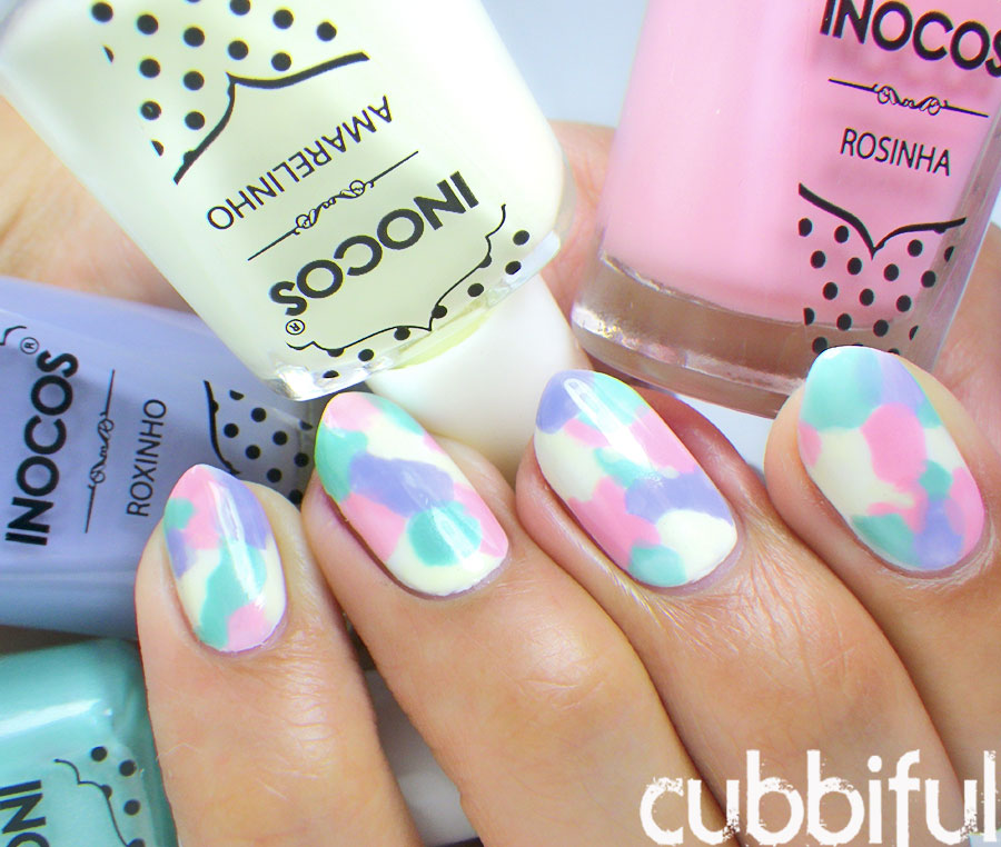 Pastel Watercolour/Camo Nails
