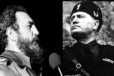 Resultado de imagen para benito mussolini y Fidel castro