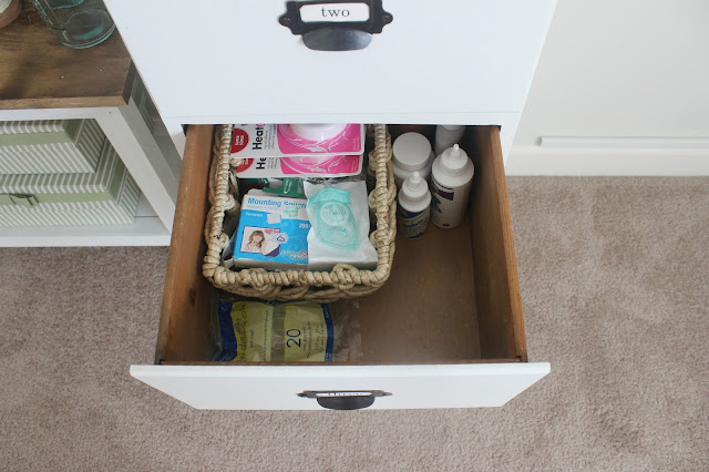 crafts stored in drawer