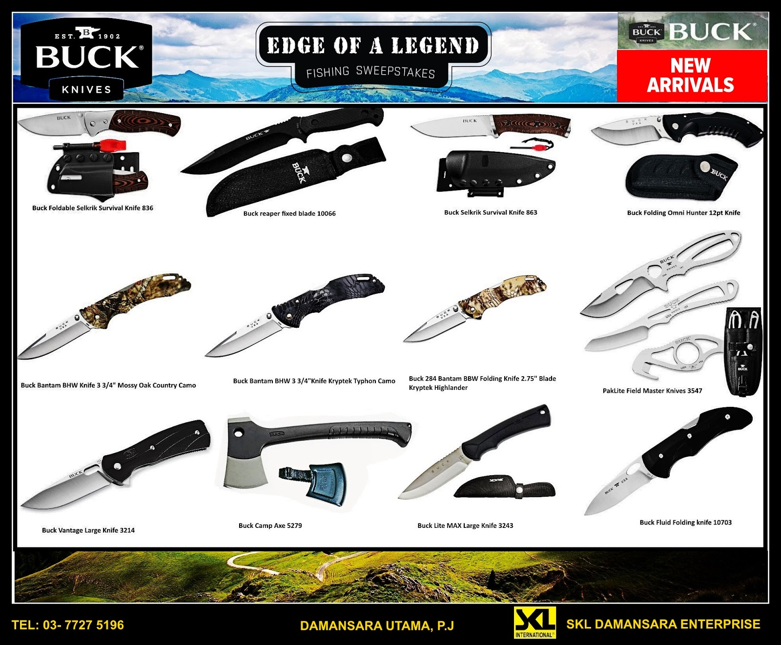 New Arrival!! Buck Knives on Sales!!!