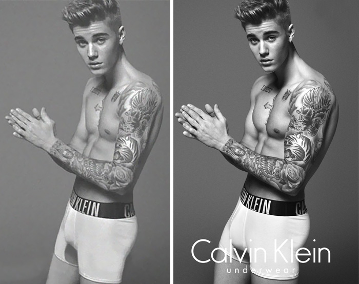 20 Before & After Images Of Celebs Reveal Society's Unrealistic Standards Of Beauty - Justin Bieber