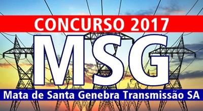 Concurso MSG Transmissão 2017