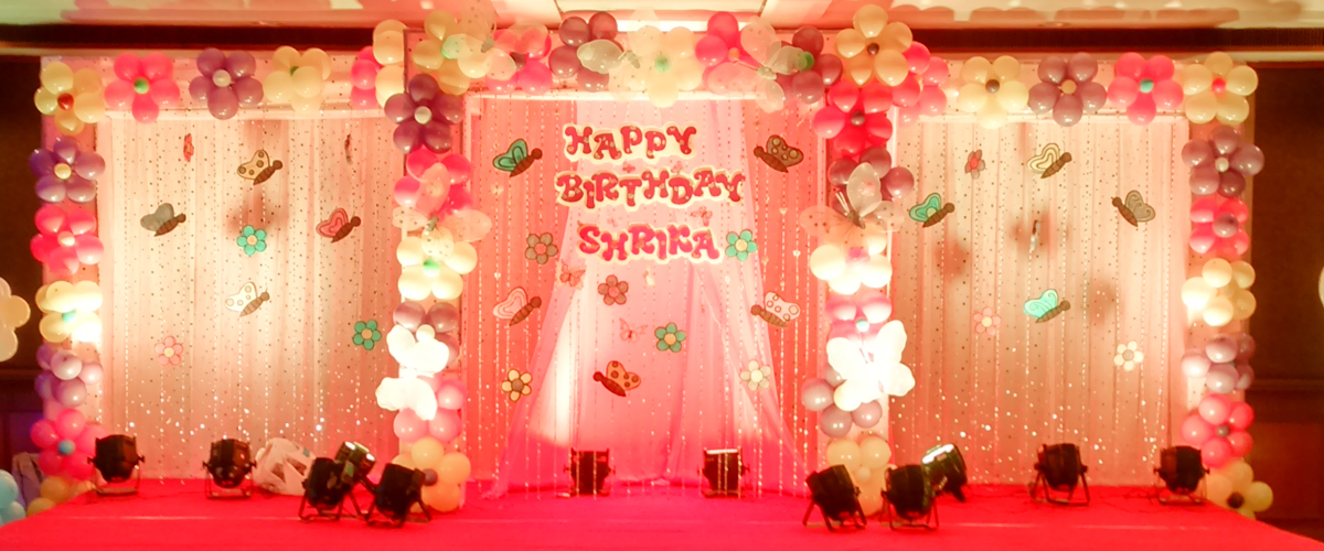 1st Birthday Stage Decoration For Baby Girl The Blouse
