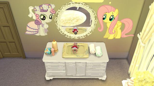 sims 4 cc (custom content) nursery furniture set