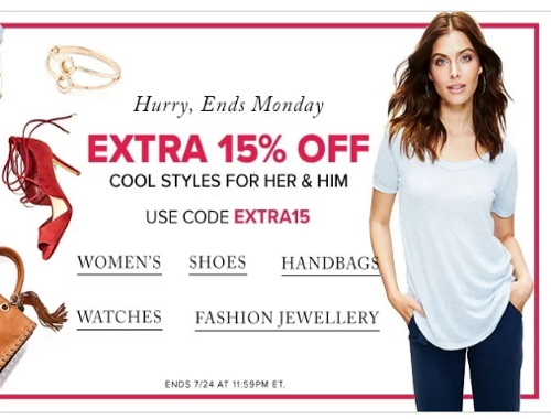 Hudson's Bay Christmas in July Sale Extra 15% Off Promo Code