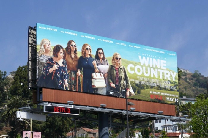 Wine Country film billboard