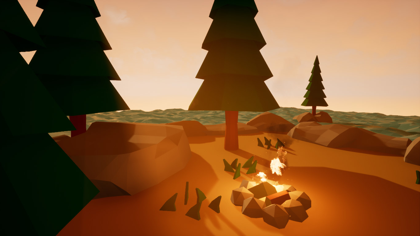 Low Poly Landscape Unreal   Gardening: Flower and Vegetables