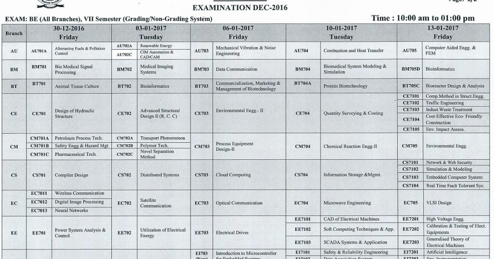 12 h s c time table question paper english 2015 2016 h s for Rgpv time table 6th sem 2015