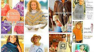 Colección de 20 Ponchos para Tejer / Tutoriales Crochet y Dos Agujas