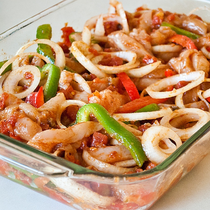 The Bestest Recipes Online: Oven Baked Chicken Fajitas