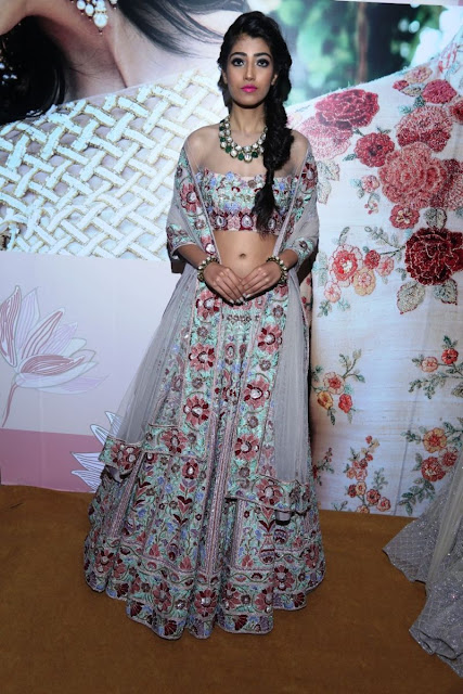 Model displaying designer creations at Day 3 of Vogue Wedding Show 2016 at Taj Palace, New Delhi wedding fashion