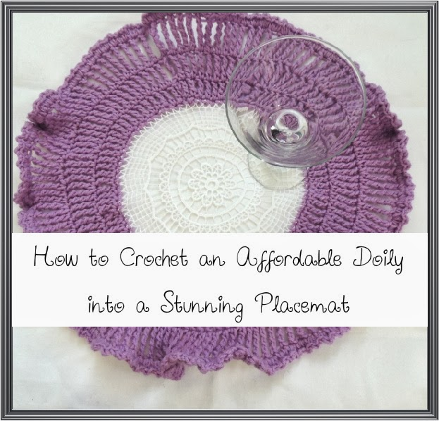 tapete, individual, transformación, crochet, ganchillo