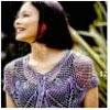 Chaleco crochet violeta
