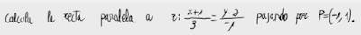 29. Recta paralela a una dada pasando por un punto 2