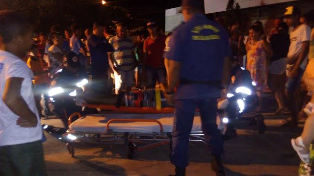 Em Olho D'Água do Casado,  colisão entre motos deixa  três pessoas feridas